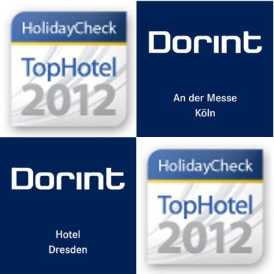 Dorint Hotel Dresden und Dorint An der Messe Köln - 2 HolidayCheck ausgezeichnete TopHotels