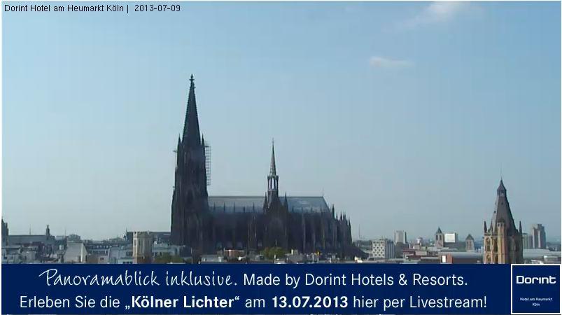 Kölner Lichter per Live Webcam Stream verfolgen.
