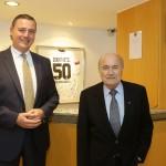 Mönchengladbach: Fifa Präsident zu Gast  Foto: Alois Müller/ Dorint Hotels & Resorts