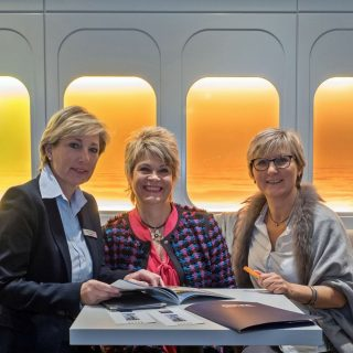 Dagmar Lennartz, Direktorin des Dorint Airport-Hotel Stuttgart und die Mitinitiatorinnen der 1. Ladies Connection, Dagmar Nennemann und Ilona Koch (v.l.n.r.)